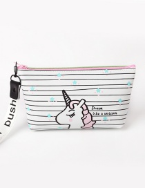 Fashion White Stripe Pattern Decorated Storage Bag