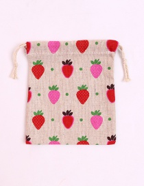 Fashion Red Strawberry Pattern Decorated Storage Bag