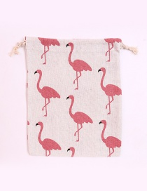 Fashion Multi-color Flamingo Pattern Decorated Storage Bag