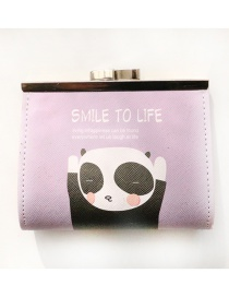 Fashion Multi-color Panda Pattern Decorated Wallet