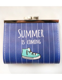 Fashion Sapphire Blue Shoes Pattern Decorated Wallet