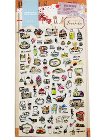 Fashion Multi-color Food Pattern Decorated Sticker