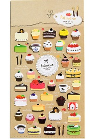 Fashion Multi-color Cake Shape Decorated Sticker