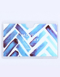 Fashion Blue Stripe Pattern Decorated Certificates Case
