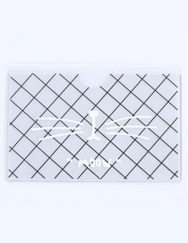 Fashion White Grid Pattern Decorated Certificates Case