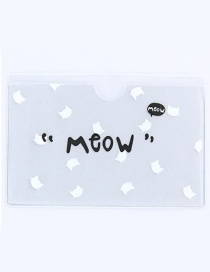 Fashion White Letter Pattern Decorated Certificates Case