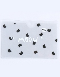 Fashion White+black Cat Pattern Decorated Certificates Case
