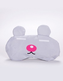 Sweet Gray Pure Color Decorated Eyepatch