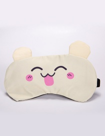Sweet Yellow Pure Color Decorated Eyepatch