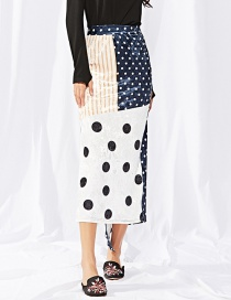 Fashion Multi-color Spot Pattern Decorated Skirt