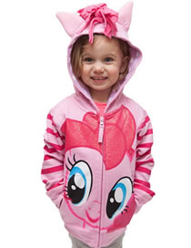 Fashion Pink Horse Shape Decorated Coat