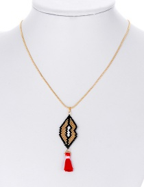 Fashion Red Pineapple Shape Decorated Necklace