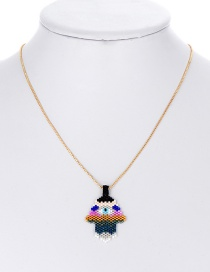 Fashion Multi-color Hand Shape Decorated Necklace