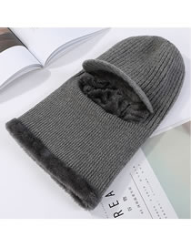 Fashion Gray Pure Color Decorated Hat