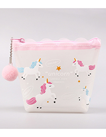 Fashion White+pink Horse Pattren Decorated Coin Purse