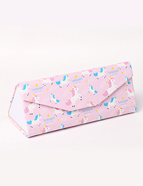 Fashion Pink Horse Pattern Decorated Glasses Case