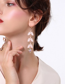 Fashion Gold Color Butterfly Shape Decorated Long Earrings