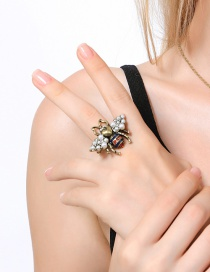 Fashion Antiqur Bronze Bee Shape Decorated Simple Ring