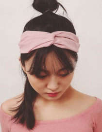 Fashion Pink Pure Color Decorated Simple Hair Band