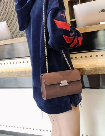 Fashion Brown Square Shape Design Bag