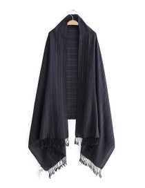 Fashion Navy Stripe Patttern Decorated Scarf