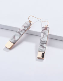 Fashion Light Green Square Shape Design Earrings