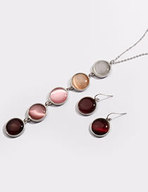 Fashion Multi-color Round Shape Decorated Necklace