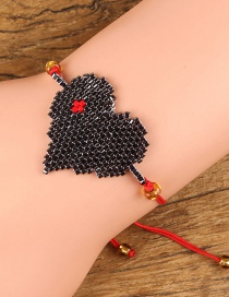 Fashion Black+red Heart Shape Decorated Bracelet