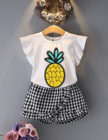 Fashion White+black Pineapple Pattern Decorated Jumpsuit