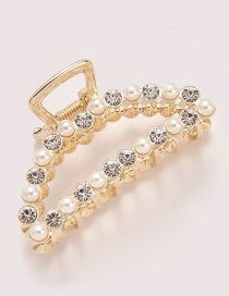Fashion Gold Color Full Diamond Decorated Hair Clip