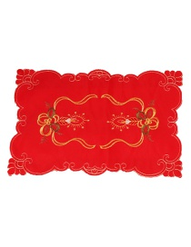 Fashion Red Hollow Out Deisgn Flower Pattern Placemat