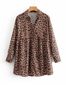 Fashion Leopard Leopard Pattern Decorated Shirt