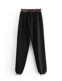Fashion Black Pure Color Decorated Long Pants