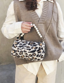 Fashion White Leopard Pattern Decorated Handbag
