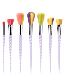 Fashion Multi-color Color-matching Decorated Makeup Brush(7pcs)