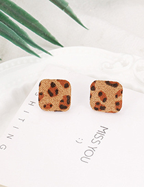 Fashion Dark Brown Square Shape Decorated Earrings