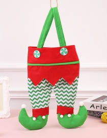 Fashion Green Color Matching Decorated Christmas Gift Bg