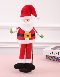 Fashion Red Santa Claus Shape Decorated Christmas Bottle Cover