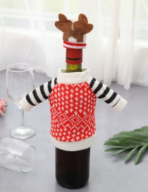 Fashion Multi-color Stripe Pattern Decorated Christmas Bottle Cover