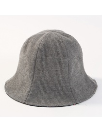 Fashion Gray Pure Color Design Double-sided-use Hat