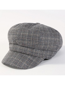 Fashion Gay Grid Pattern Decorated Simple Hat