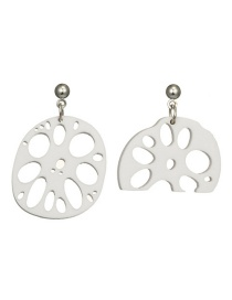 Fashion Silver Color Pure Color Decorated Hollow Out Earrings
