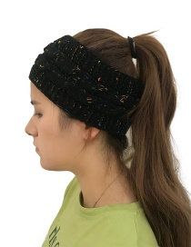 Fashion Black Color Matching Decorated Hat