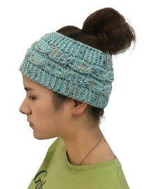 Fashion Blue Color Matching Decorated Hat