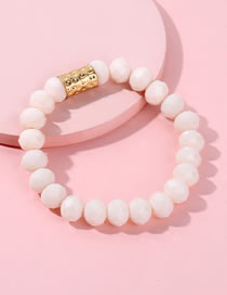 Fashion Pink Bead Decorated Bracelet
