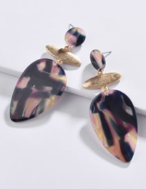 Fashion Black Water Drop Shape Decorated Earrings