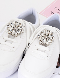 Fashion White Flower Shape Decorated Shoes Accessories