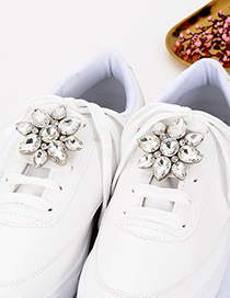 Fashion White Diamond Decorated Shoes Accessories