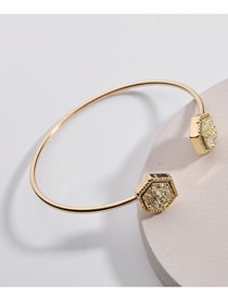 Fashion Gold Color Geometric Shape Decorated Bracelet