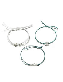 Fashion Silver Color Bead Decorated Bracelet